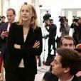 Marion Maréchal-Le Pen - Déclaration commune lors de l'accord entre M. Le Pen et N. Dupont-Aignan avant le second tour de l'élection présidentielle à Paris le 29 avril 2017