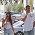 Exclusif - Kourtney Kardashian et Younes Bendjima se baladent dans les rues de West Hollywood le 2 mai 2017.