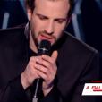 Marvin Dupré dans The Voice 6 sur TF1, le 6 mai 2017.