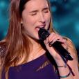 """Juliette dans """"The Voice 6"""" le 6 mai 2017 sur TF1."""
