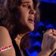 """Marianna Aya Omac dans """"The Voice 6"""" sur TF1, le 6 mai 2017."""