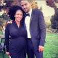 Jesse Williams et sa femme, enceinte de leur premier enfant. 2014