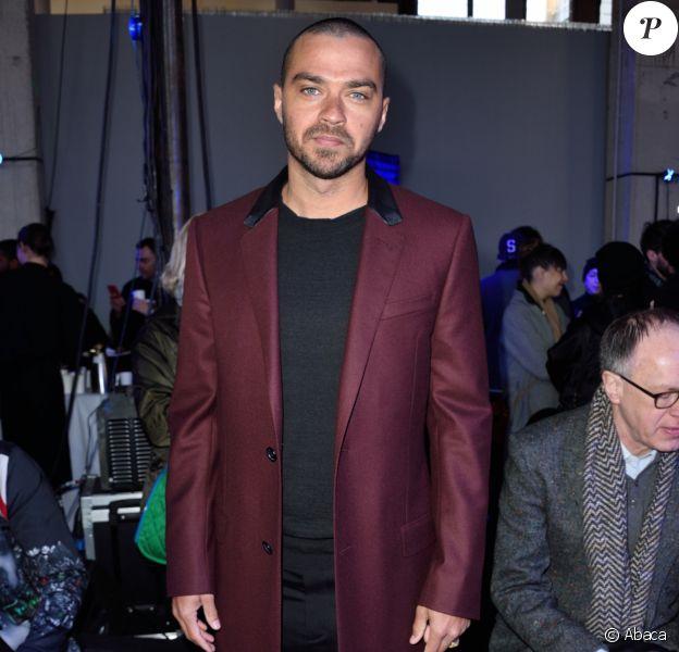 Jesse Williams à la présentation de la collection automne/hiver 2017-2018 de Lanvin lors de la Fashion Week de Paris le 22 janvier 2017.