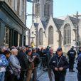Illustration - Obsèques de Corinne Erhel députée socialiste et conseillère régionale en l'église Saint-Jean-du-Baly à Lannion, le 10 mai 2017. Corinne Erhel est décédée le 5 mai lors d'un meeting du mouvement En Marche!.