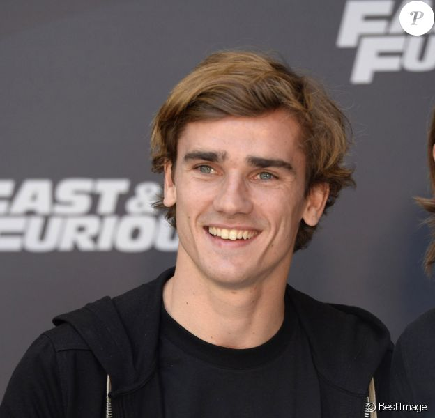 "Antoine Griezmann - Photocall du film ""Fast and Furious 8"" à Madrid le 6 avril 2017."