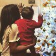 Amel Bent et sa fille préparent le sapin de Noël, Instagram, décembre 2016