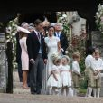 Pippa Middleton, son mari James Matthews, Catherine (Kate) Middleton et le prince George de Cambridge - Mariage de Pippa Middleton et James Matthews, en l'église St Mark's Englefield, Berkshire, Royaume Uni, le 20 mai 2017.