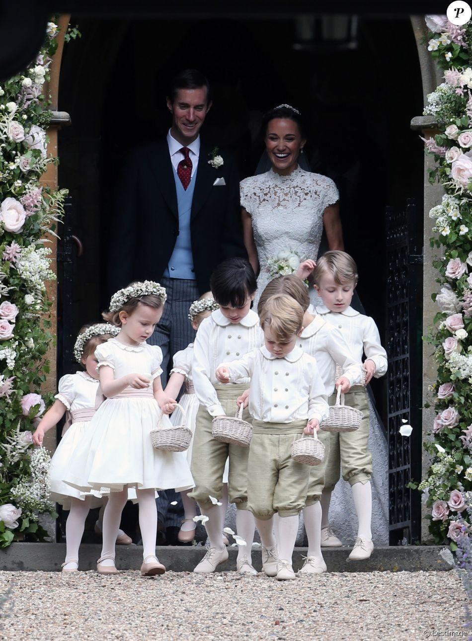 Pippa middleton et son mari james matthews et le prince george de cambridge mariage de pippa - Charlotte de turckheim et son mari ...