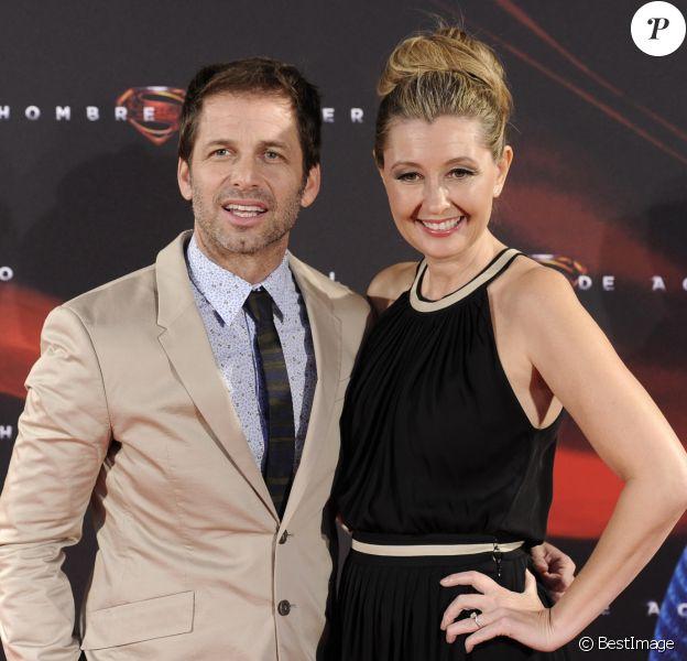 Zack Snyder et sa femme Deborah à Madrid, le 17 Juin 2013.