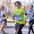 Marion Bartoli pendant le marathon de New York dans Central park à New York City, New York, Etats-Unis, le 6 novembre 2016. © Agence/Bestimage