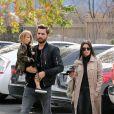 Kourtney Kardashian et Scott Disick vont voir un film avec leurs enfants Mason et Penelope à Westlake, le 3 janvier 2016.