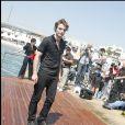 Robert Pattinson sur la plage du Majestic lors du 62e Festival de Cannes le 19 mai 2009