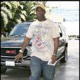 Michael Clarke Duncan se rend au stade de Los Angeles pour voir un match de basket. 25/01/09