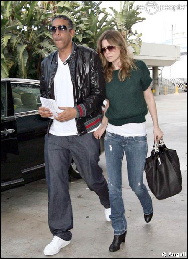Ellen Pompeo et son mari se rendent au stade de Los Angeles pour voir un match de basket. 25/01/09
