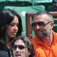 Amel Bent, Patrick Antonelli - People aux Internationaux de France de tennis de Roland Garros à Paris, le 5 juin 2014.