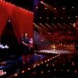 """Audrey divise avec sa prestation sur """"Grace Kelly"""" de Mika, le 3 juin 2017 lors de la demi-finale de """"The Voice 6"""" sur TF1."""