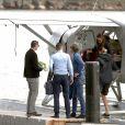 Pippa Middleton et son mari James Matthews arrivent en hydravion avec des amis à Cottage Point, Australie, le 31 mai 2017.