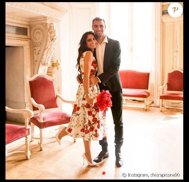 Javier Pastore a épousé Chiara Picone à la mairie de Neuilly-sur-Seine le 24 mai 2017.