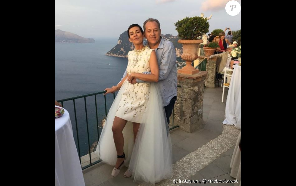 Mariage de Cristina Cordula et Frédéric Cassin à Capri. Le 6 juin 2017. 9ad33d83d55