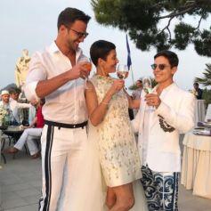 Mariage de Cristina Cordula et Frédéric Cassin à Capri. Le 6 juin 2017.