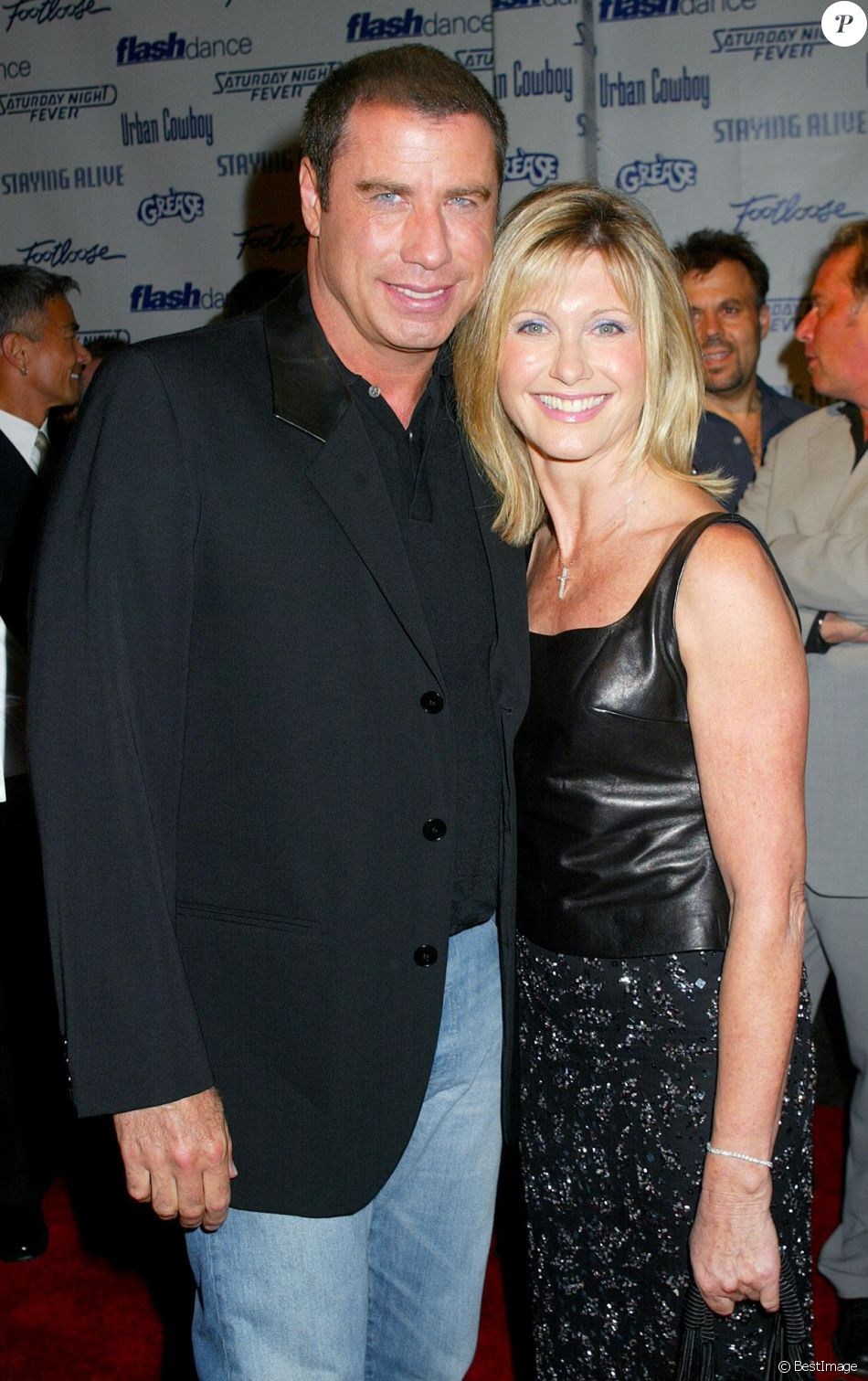 John Travolta et Olivia Newton-John à Los Angeles le 25 septembre 2002.