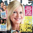 Couverture de People avec Olivia Newton-John se battant contre son cancer du sein.