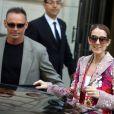 Céline Dion quitte l'hôtel Royal Monceau, à Paris, le 14 juin 2017.