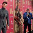 Ansel Elgort et son père - Les célébrités arrivent à la première de 'Baby Driver' à Los Angeles le 14 juin 2017.