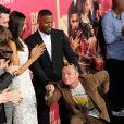 Lily James, Ansel Elgort, Jon Hamm, Eiza Gonzales, Jamie Foxx et Flea - Les célébrités arrivent à la première de 'Baby Driver' à Los Angeles le 14 juin 2017.