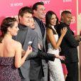 Lily James, Ansel Elgort, Jon Hamm, Eiza Gonzales, Jamie Foxx - Les célébrités arrivent à la première de 'Baby Driver' à Los Angeles le 14 juin 2017.