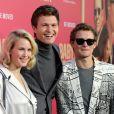 Ansel Elgort avec son frère Warren et sa soeur Sophie - Les célébrités arrivent à la première de 'Baby Driver' à Los Angeles le 14 juin 2017.