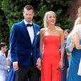 Morgan Schneiderlin et sa femme Camille Sold - Mariage de Matteo Darmian et Francesca Cormanni à Rescaldina, Italie, le 14 juin 2017.