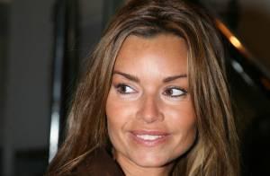 Ingrid Chauvin, très en beauté et bien accompagnée au défilé Franck Sorbier....