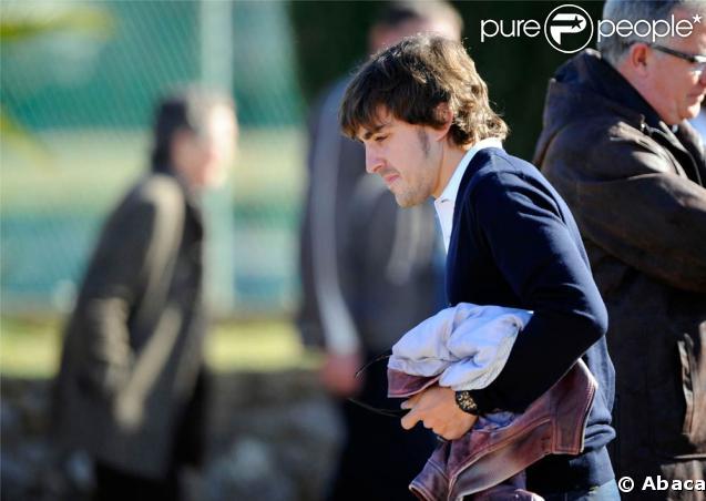Fernando Alonso aux obsèques de son père spirituel