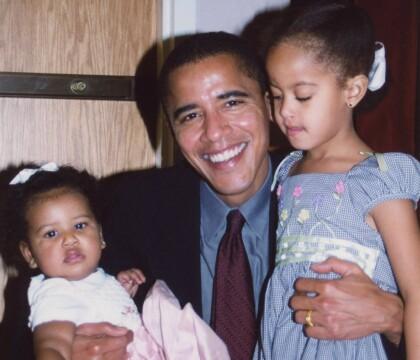 Barack Obama, heureux père de Sasha et Malia, ému par sa femme Michelle