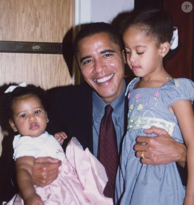 Barack Obama et ses filles Natasha et Malia. Photo publiée le 18 juin 2017.
