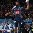 Luc Abalo lors du match de demi-finale du 25th mondial de handball, France - Slovénie à l'AccorHotels Arena à Paris, France, le 26 janvier 2017. © Cyril Moreau/Bestimage