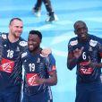 William Accambray, Luc Abalo et Olivier Nyokas lors du match de finale du mondial de handball, France - Norvège à l'AccorHotels Arena à Paris, France, le 29 janvier 2017. © Cyril Moreau/Bestimage