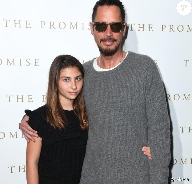 Chris Cornell et sa fille Toni à Londres le 5 avril 2017.