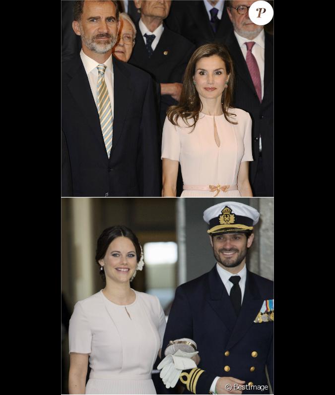 Letizia d 39 espagne en juin 2017 sofia de su de en avril for Robe de mariage hugo boss