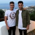 Luca et Enzo Zidane posent lors de vacances en Grèce. Photo publiée sur Instagram en juin 2017.