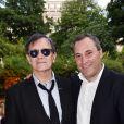 Exclusif - Francis Huster et Benjamin Patou - B. Patou fête ses 40ans à l'hôtel particulier Salomon de Rothschild à Paris, France, le 22 juin 2017. © Rachid Bellak/Bestimage