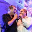 Exclusif - Garou et Benjamin Patou - B. Patou fête ses 40ans à l'hôtel particulier Salomon de Rothschild à Paris, France, le 22 juin 2017. © Rachid Bellak/Bestimage