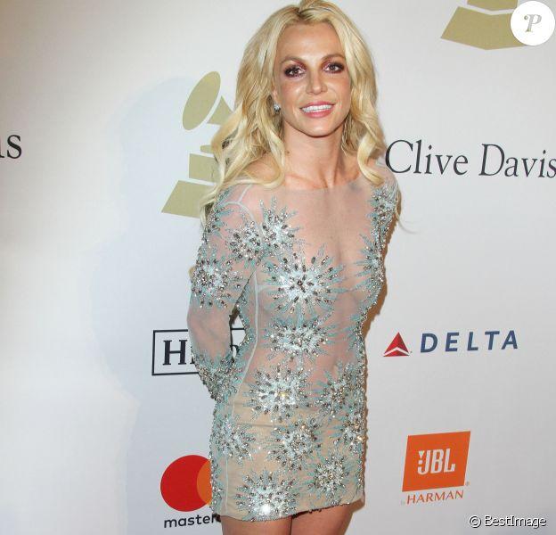 Britney Spears au gala Pre-Grammy à l'hôtel The Beverly Hilton à Beverly Hills, le 11 février 2017