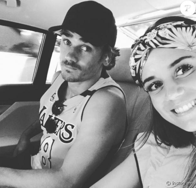 Antoine Griezmann et Erika Choperena, jeunes mariés, en voyage de noces en Jamaïque fin juin 2017 après leur mariage célébré le 15 juin à Tolède. Photo Instagram.
