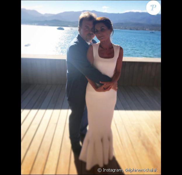 Pierre Hermé et sa femme Valérie, le 1er juillet 2017 en Corse.