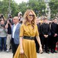 """Céline Dion arrivant au défilé de mode Haute-Couture automne-hiver 2017/2018 """"Christian Dior"""" à l'Hôtel des Invalides à Paris, le 3 juillet 2017 © CVS-Veeren/Bestimage"""