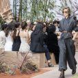 """Défilé de mode Haute-Couture automne-hiver 2017/2018 """"Christian Dior"""" à l'Hôtel des Invalides à Paris, le 3 juillet 2017 © Olivier Borde/Bestimage"""