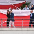 Semi-Exclusif - Charlotte Casiraghi et Dimitri Rassam ont officialisé leur relation de couple en prenant part ensemble le 24 juin 2017 à la soirée de gala du Jumping de Monaco, étape du Longines Global Champions Tour. © Bruno Bebert / Bestimage