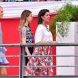 Semi-Exclusif - La princesse Caroline de Hanovre, sa fille la princesse Alexandra de Hanovre et Matilde Borromeo le 24 juin 2017 à la soirée de gala du Jumping de Monaco, étape du Longines Global Champions Tour. © Bruno Bebert / Bestimage